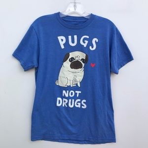 Gemma Correll Pugs Not Drugs TShirt #1347